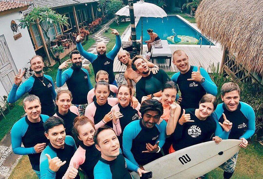 Сёрфинг на Бали в Новый год 2019