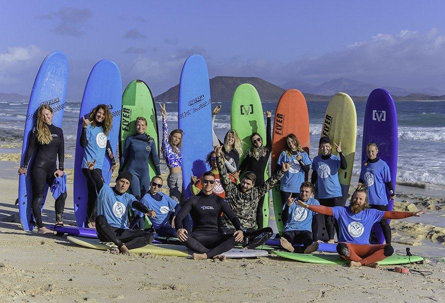 Сёрфинг на Канарах в Новый год 2019 Фуэртевентура