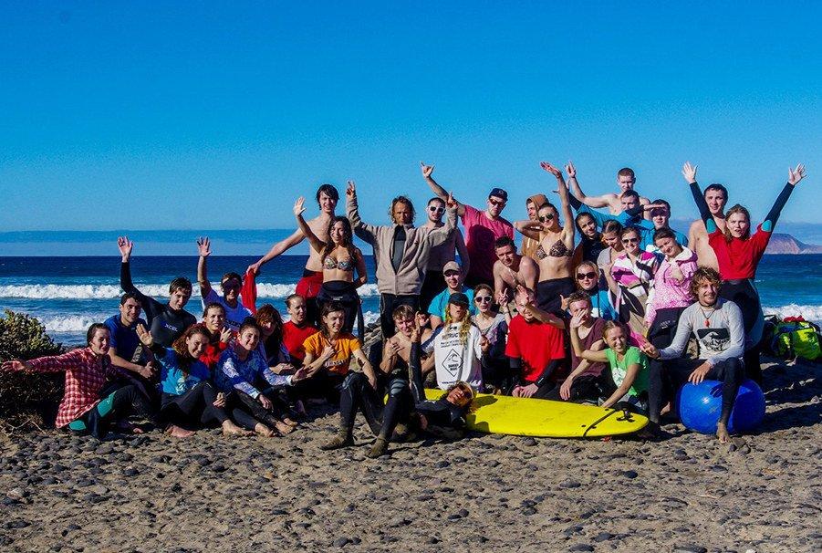 Сёрфинг на Канарах в Новый год 2019 Лансароте