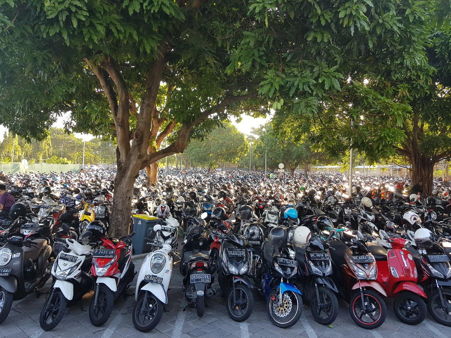 Мотороллер - самый популярный транспорт на Бали